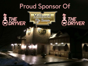 "Millhurst Ale House Proud Sponsor of ""The Dryver"""